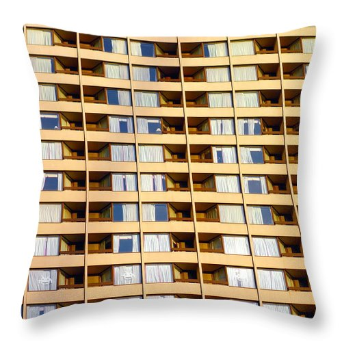 Building Throw Pillow featuring the photograph Toronto Apartment Building by Valentino Visentini