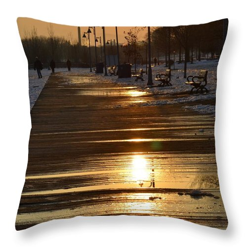 Toronto Throw Pillow featuring the photograph Toronto Boardwalk by Ilanna Mandel