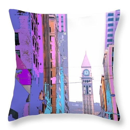 Bay Throw Pillow featuring the photograph Toronto Old City Hall by Ian MacDonald