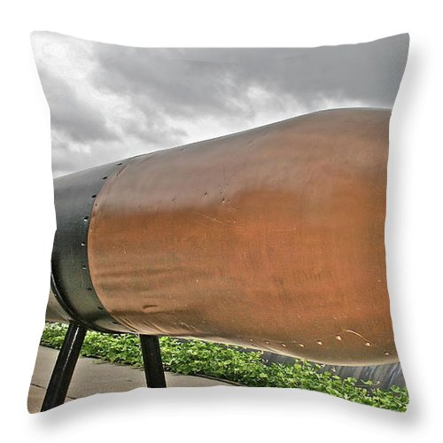 Torpedo Throw Pillow featuring the photograph Torpedo by Rick Monyahan