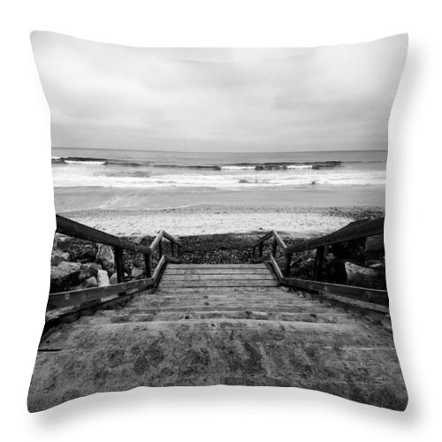 Torrey Pines Throw Pillow featuring the photograph Torrey Pines Stairs by Tanya Harrison