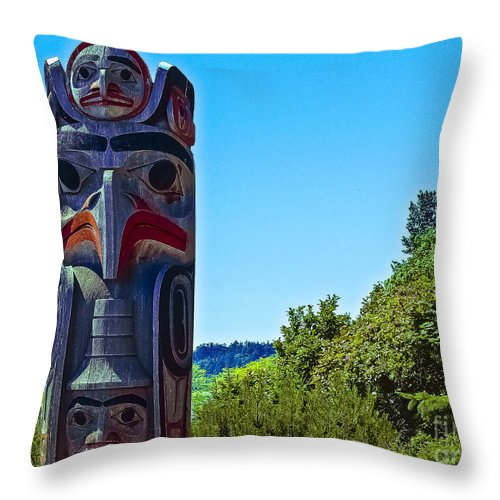 West Beach Throw Pillow featuring the photograph Totem by David Fabian