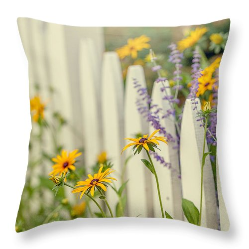 Wildflowers Throw Pillow featuring the photograph Touch Of Purple by June Marie Sobrito