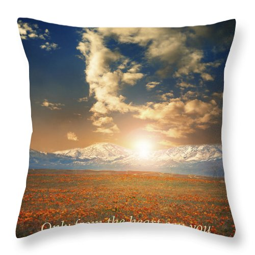 Rumi Throw Pillow featuring the photograph Touch The Sky by Stella Levi