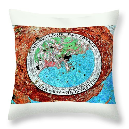 Mediterranean Throw Pillow featuring the photograph Touring Club by Dwight Pinkley