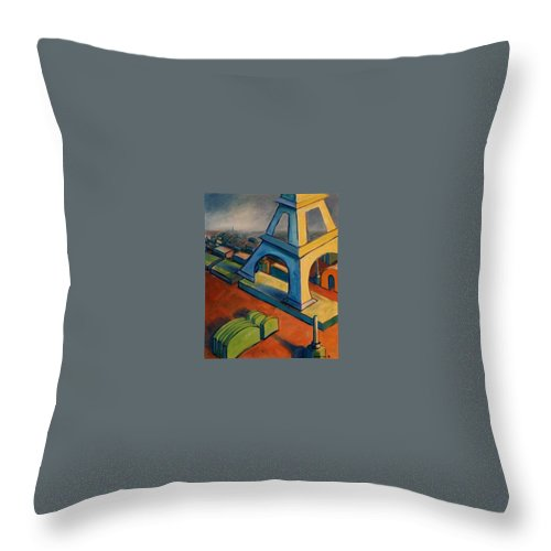 Fauves Throw Pillow featuring the painting Tower And Toast by Konnie Kim