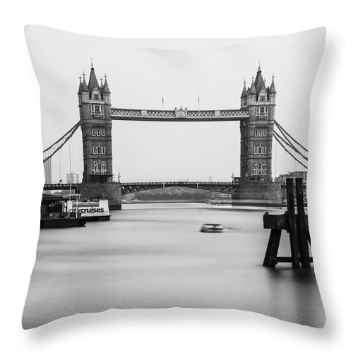 Tower Bridge Throw Pillow featuring the photograph Tower Bridge London by Keith Thorburn LRPS AFIAP CPAGB