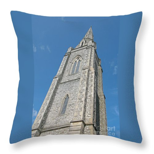 England Throw Pillow featuring the photograph Towering by Ann Horn