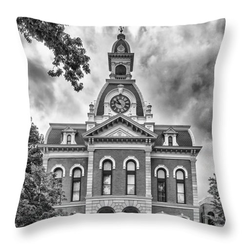 Buildings Throw Pillow featuring the photograph Town Hall  3d21180 by Guy Whiteley