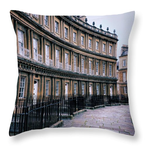Bath Throw Pillow featuring the photograph Town Houses by Jill Battaglia