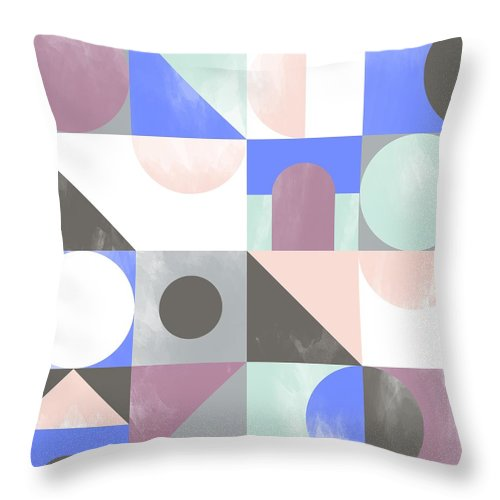 Pattern Throw Pillow featuring the painting Toy Blocks by Laurence Lavallee