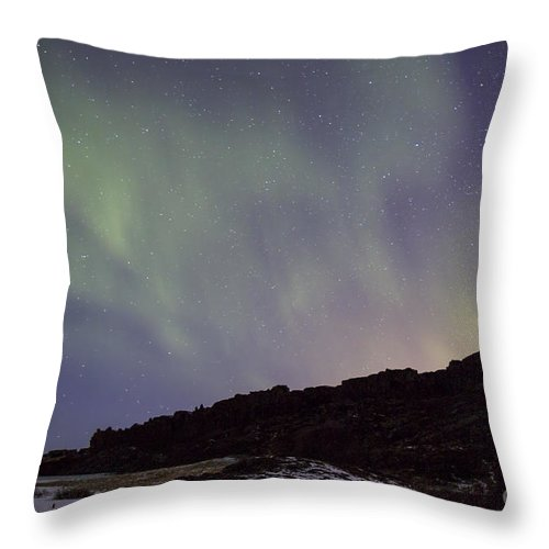 Thingvellir Throw Pillow featuring the photograph Traces Of Dreams by Evelina Kremsdorf