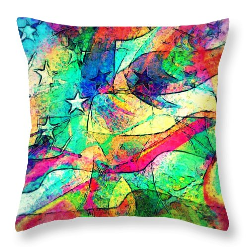 Tracings2 Throw Pillow featuring the digital art Tracings2 by D Preble