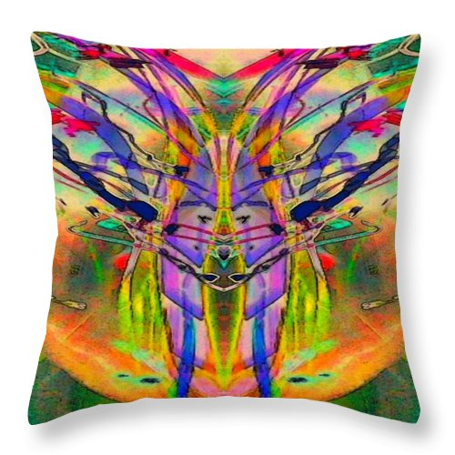 Tracings4 Throw Pillow featuring the digital art Tracings4 by D Preble