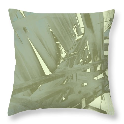 Urban Industrial Throw Pillow featuring the photograph Tracks by CR Leyland