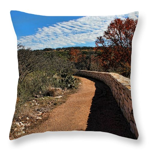 Reimer's Ranch Throw Pillow featuring the photograph Trail At Reimer's Ranch by Judy Vincent