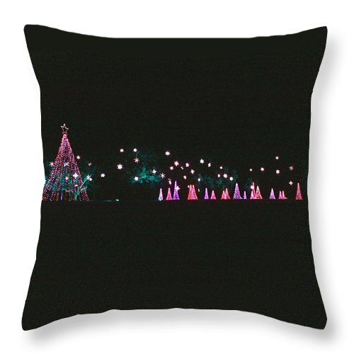 Christmas Trees Throw Pillow featuring the photograph Trailing Snowflakes by Marian Bell