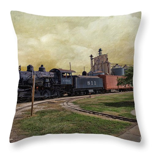 Train - Engine Throw Pillow featuring the photograph Train - Engine by Liane Wright