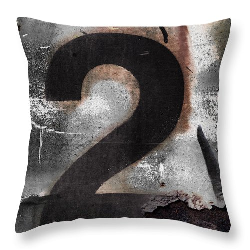 Number Throw Pillow featuring the photograph Train Number 2 by Carol Leigh