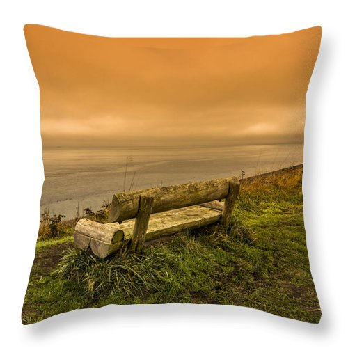 Bluff Throw Pillow featuring the photograph Tranquil Afternoon by Calazone's Flics