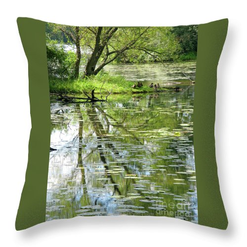 Reflection Throw Pillow featuring the photograph Tranquility by Ann Horn