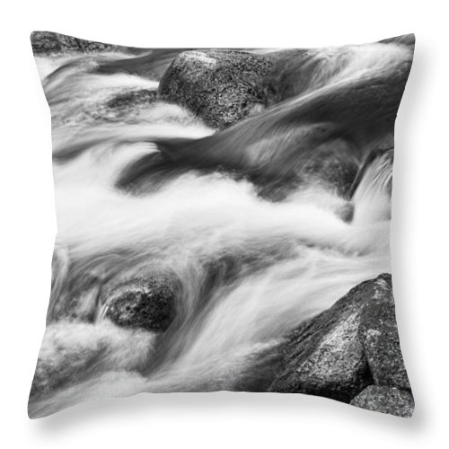 Tranquility Throw Pillow featuring the photograph Tranquility In Black And White by James BO Insogna