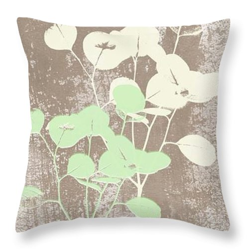 Tranquility Throw Pillow featuring the painting Tranquility by Linda Woods