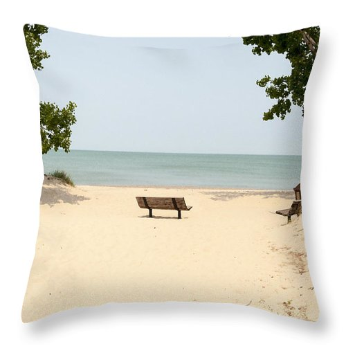 Beach Throw Pillow featuring the photograph Tranquility Painterly by Donna Doherty