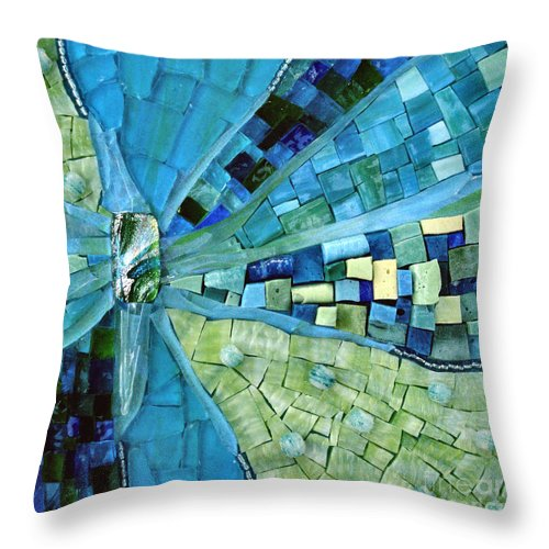 Mosaic Throw Pillow featuring the photograph Tranquility by Valerie Fuqua