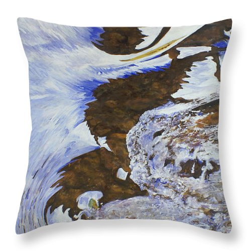 James River Throw Pillow featuring the painting Transition by J Luis Lozano