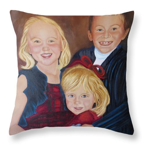 Children Throw Pillow featuring the painting Transition by Sharon Schultz