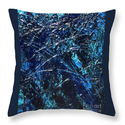 Abstract Throw Pillow featuring the painting Transitions I by Dean Triolo