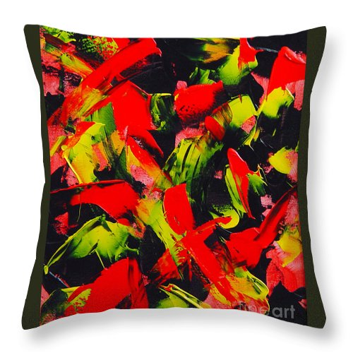 Abstract Throw Pillow featuring the painting Transitions IIi by Dean Triolo
