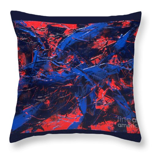 Abstract Throw Pillow featuring the painting Transitions Iv by Dean Triolo