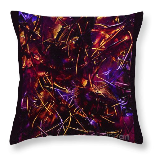 Abstract Throw Pillow featuring the painting Transitions X by Dean Triolo