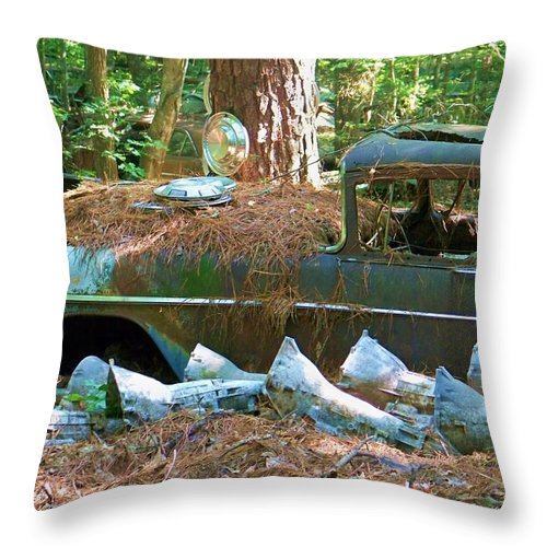 Old Throw Pillow featuring the photograph Transmission Row by Chuck Hicks