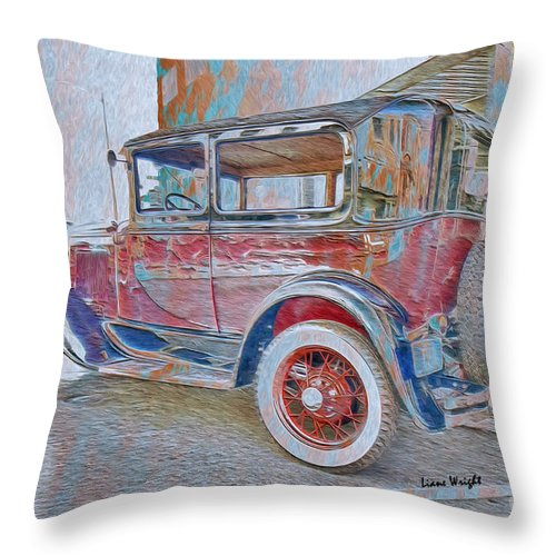 Transportation Grunge Throw Pillow featuring the digital art Transportation Grunge by Liane Wright