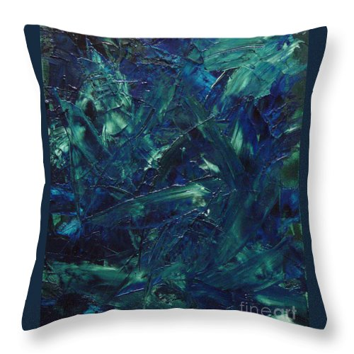 Abstract Throw Pillow featuring the painting Transtions Xi by Dean Triolo
