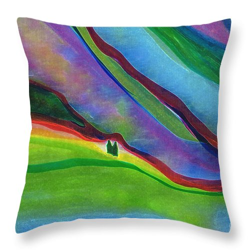 Landscape Throw Pillow featuring the digital art Travelers Foothills By Jrr by First Star Art