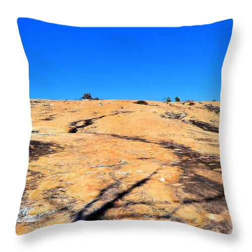 Arabia Throw Pillow featuring the photograph Traversing The Rock by James Potts