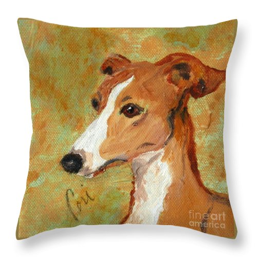 Acrylic Throw Pillow featuring the painting Treasured Moments by Cori Solomon