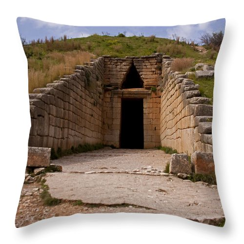 Treasury Of Ateus Throw Pillow featuring the photograph Treasury Of Ateus  #7553 by J L Woody Wooden