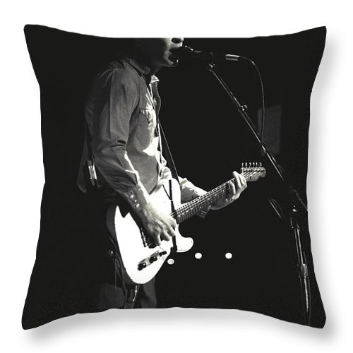 Singer Throw Pillow featuring the photograph Treat Her Right - Mark Sandman by Concert Photos