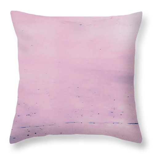 Treat Throw Pillow featuring the photograph Treat In Soft Pink by Waite