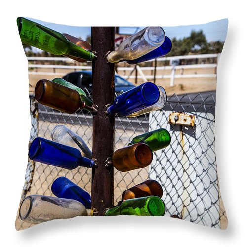 Bottleneck Ranch Throw Pillow featuring the photograph Tree by Angus Hooper Iii