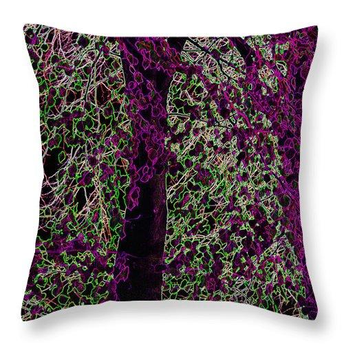 Purple Throw Pillow featuring the digital art Tree by Carol Lynch
