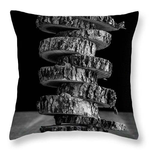 Cut Throw Pillow featuring the photograph Tree Deconstructed by Edward Fielding