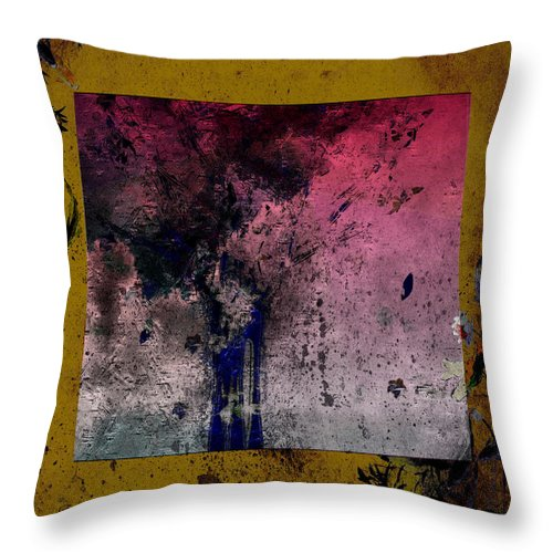 Nishikigoi Pond Throw Pillow featuring the painting Tree In The Nishikigoi Pond - Featured In Artist's Group 'comfortable Art' by Ericamaxine Price