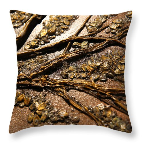 Tree Throw Pillow featuring the mixed media Tree Of Hope Detail by Mathieu Francoeur