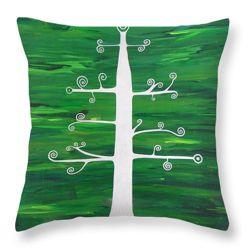 Tree Of Life Divine Healing Meditation Dream Symbol Peace God Goddess Energy Angels Blue Heaven Soul Spirit Yoga Zen Chi Life Force Spiritual Mantra Mandala Sacred Geometry Healing Feng Shui Throw Pillow featuring the painting Tree Of Life - Vigor And Vitality by Elle Nicolai
